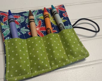 Mila Floral - Mini Crayon Roll