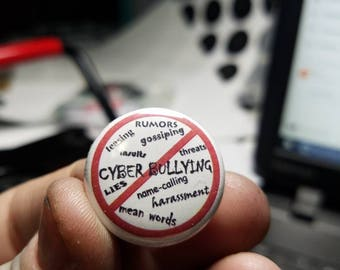 No Bullying 1 inch button