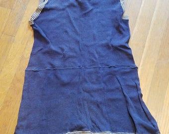 vintage blue bathing suit