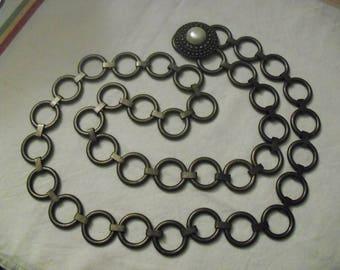 Vintage Bronze Metal Circles Belt