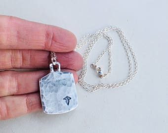 Medical Alert Necklace, ID Necklace, Medical ID Necklace, Dog Tag Necklace, Medical Alert Dog Tag,