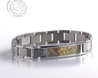 Dinosaur Bone Bracelet, Interchangeable Fossil Jewelry, Bracelet Set, Paleontology Jewelry