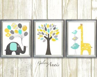 Nursery art baby nursery decor canvas prints wall by - Keilrahmen kinderzimmer ...