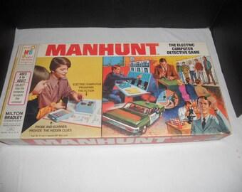 Vintage Manhunt Board Game by Milton Bradley 1972 100% Complete