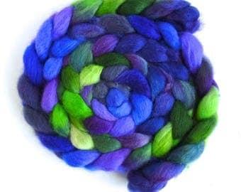 BFL Wool Roving - Hand Painted Spinning or Felting Fiber, Vivid Motives