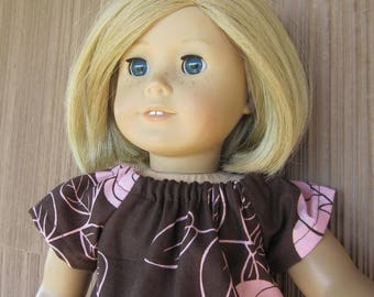 Modest Doll Clothes for the popular 18 inch dolls, a Capri Set Perfect for Summer Play; Handmade Fashion for Little Girls
