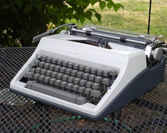 Vintage Working Olympia SM 9 Portable Manual Typewriter with Case