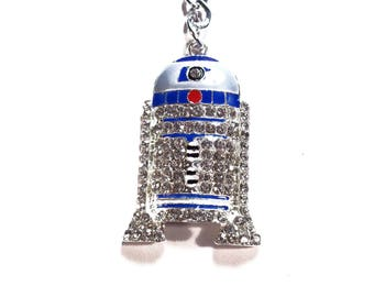 Star Wars Cute R2 D2  Metal Keychain zipper charms