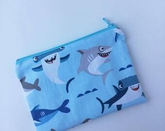 Sharks Snack Bag - Snack Bag - Kids Snack Bag - Lunch Pouch -  Snack Sack - Lunch Sack - Zippered Snack Bag - Shark Week