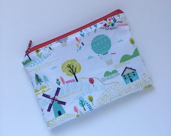Snack Bag - Kids Zippered Snack Bag - Lunch Pouch - Windmill - Snack Bag - Lunch Bag - Snack Sack