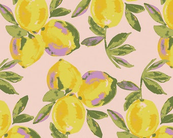 Yuma Lemons Glare - Sage - Bari J - Art Gallery Fabric 100% Quilters Cotton SGE-24453
