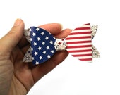 RESERVED 4th of July Bow | Stars and Stripes Bow