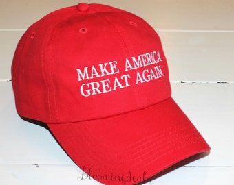 Trump Hat Make America Great Again Baseball Cap Monogram Hat Custom Embroidery by Bloomingdeals