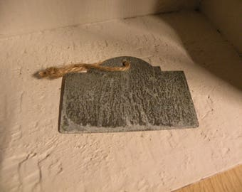 Zinc Gift Tags   -  Set Of Three Zinc Tags With Twine    -  Rustic Metal Gift Tags