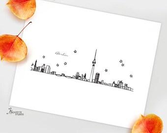 Berlin, Germany - Europe - Instant Download Printable Art - City Skyline Series