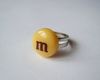 ♥ ♥ ♥ Yellow candy ring