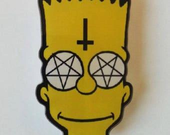 Brooch Bart Simpson pentacle ♥ ♥
