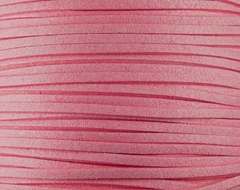 Faux Suede Cord By the Yard Pink 3mm thick (1013cor03m1-7)
