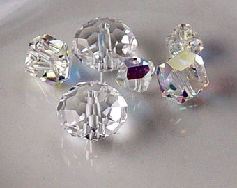 Grab Bag Swarovski Crystal Bead Pendants Clear Assortment (250grab)
