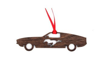 Wooden Ford 1970's Mustang Fastback Mach 1 Ornament