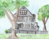 Custom watercolor, Home...