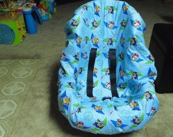 Paw Patrol (blue) toddler car seat cover- car seat not included