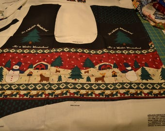 Peace in the Country Christmas Vest , Unassembled Panel