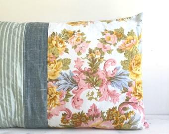 Designer pillow 60x40 antique French floral