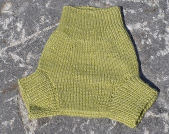 MEDIUM All Natural Hand Knit Wool Diaper Soaker, 100% Wool Cloth Diaper Cover, Knit for Baby, Wool Soaker, Wool Baby Soaker Cover
