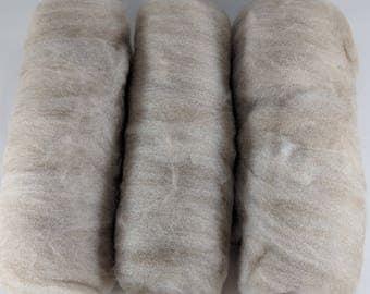 Soft Shetland Fawn Wool Hand Processed Batts - 3 oz