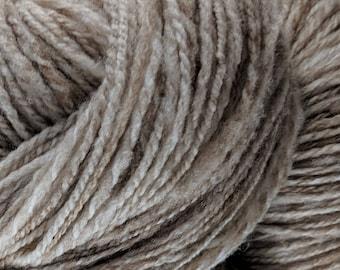 Soft Shetland Wool Handspun Yarn - Fawn - 408 yards Farm Raised