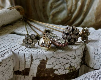 Lovely Vintage Collection.....Long Rhinestone Hat Pins