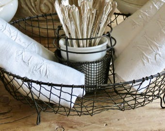 Lovely Old French Wire Basket