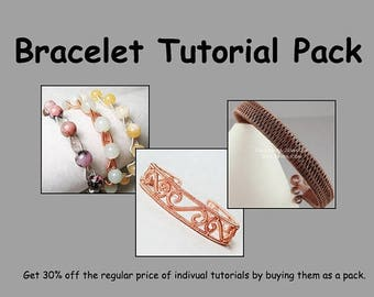 SALE - Bracelet Tutorial Pack - Wire Jewelry Tutorials - Save 30%