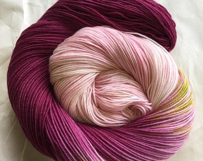 watercolors sock yarn - Stargazer Lily