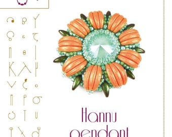 pendant tutorial / pattern Hannu pendant with crescent – PDF instruction for personal use only