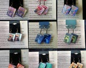 Mini Book Earrings - Book Jewelry - Handmade Book Earrings - Mini  Book Jewelry - Handmade Mini Book Earrings -