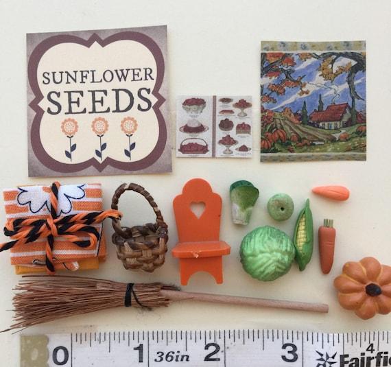Miniature Fall Accessories , Signs, Vegetables- Destash sale