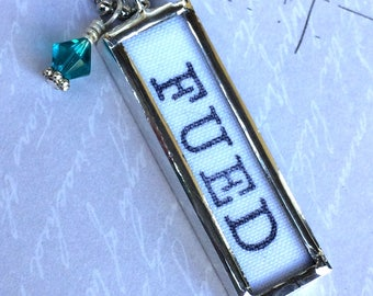 Eating Disorder Recovery Jewelry, FUED Necklace