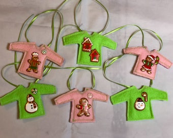 Ugly Christmas Sweaters Garland Banner Pink And Green New