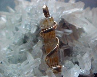 Sacred Agape Crystal Gold Filled Spiral Pendant Espirito Santo 040