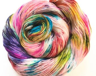"Sock yarn, superwash BFL nylon, hand dyed, TREAD ""Dancing Bears"", 465 yds."