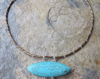 Hand-made Turquoise and Bead Necklace