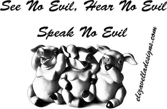 see no evil hear no evil speak no evil pigs clipart png graphics digital download animal image printable art