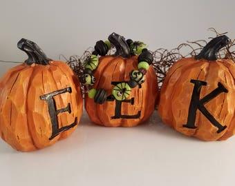 "Halloween Lampwork Glass Bead Bracelet in Green and Black - Fits 5-6"" Wrists - OOAK"