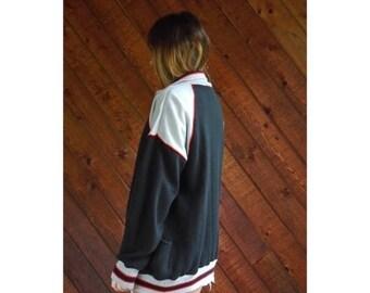 20% off SUMMER SALE. . . Athletic Colorblock Zip Up Sweatshirt Jacket 80s - Vintage - M