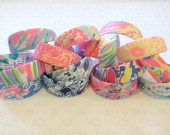 """Preppy 2"""" Wide Lilly Pulitzer Fabric Headband in Many Prints"""