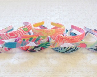 "Preppy 1"" Medium Lilly Pulitzer Fabric Headband in Many Prints"