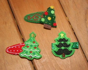 A Christmas Tree Clippie, Choose Your Favorite Christmas Tree Hair Clip