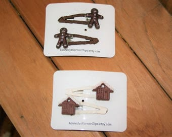 Your Choice of Gingerbread Snap Clip Set
